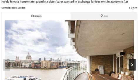 Affitto gratis nel centro di Londra, ma ad una condizione..