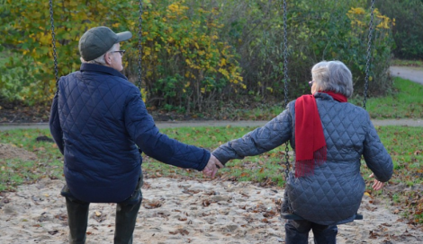 Il parco giochi... per anziani!