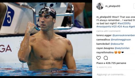 Michael Phelps. Gara con uno squalo bianco