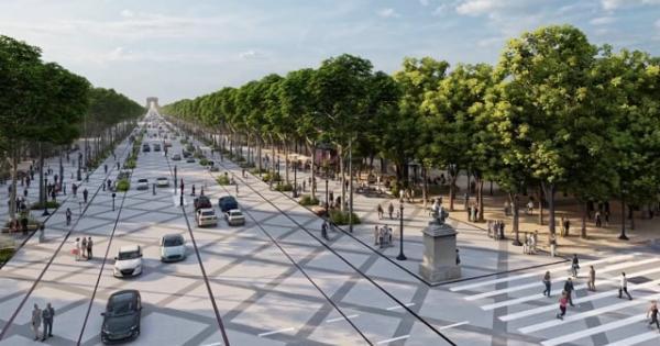 Il meraviglioso cuore green degli  Champs-Élysées