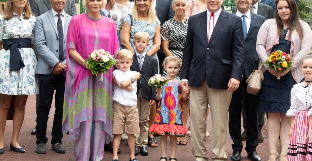 La Principessa Charlene e i gemellini al pic nic più atteso dell'anno