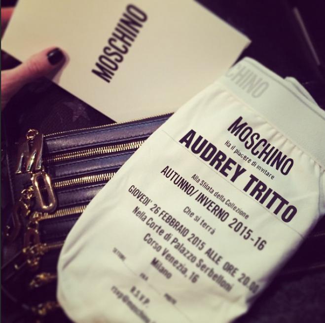 Conosciuto Moschino fashion show - L´invito Mutanda - Milano fashion week  QM48