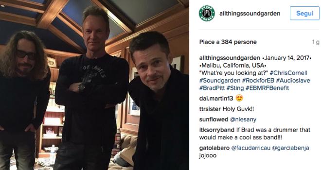 Sting, Chris Cornell e Brad Pitt insieme sul palco