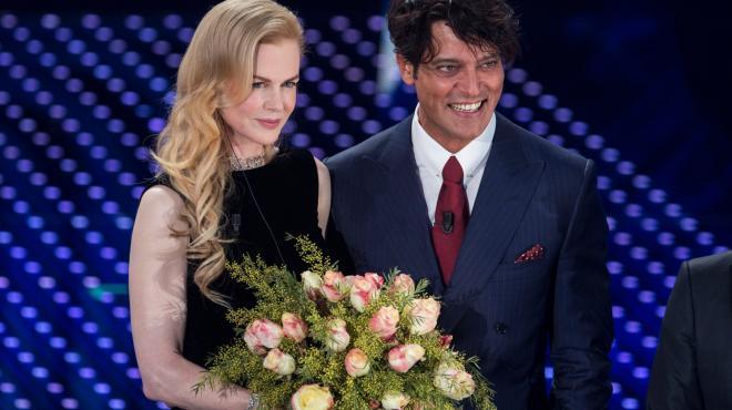 Il fascino di Nicole Kidman e  il talento di Virginia Raffaele: tutte le foto più belle della seconda serata del festival