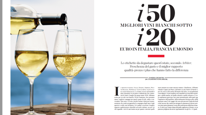 I 50  migliori vini bianchi sotto i 20 euro in Italia, Francia e mondo
