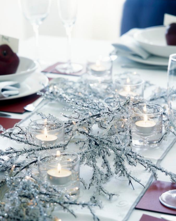 Sei idee last minute per un elegante centro tavola for Tavolo natalizio