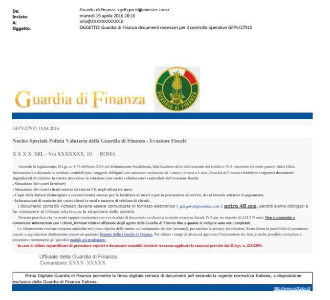Occhio alla truffa della falsa mail della Finanza