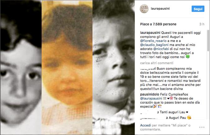 Tanti auguri, amici! Laura Pausini festeggia il compleanno e fa gli auguri anche a Fiorello, Baglioni e Niccolò Fabi