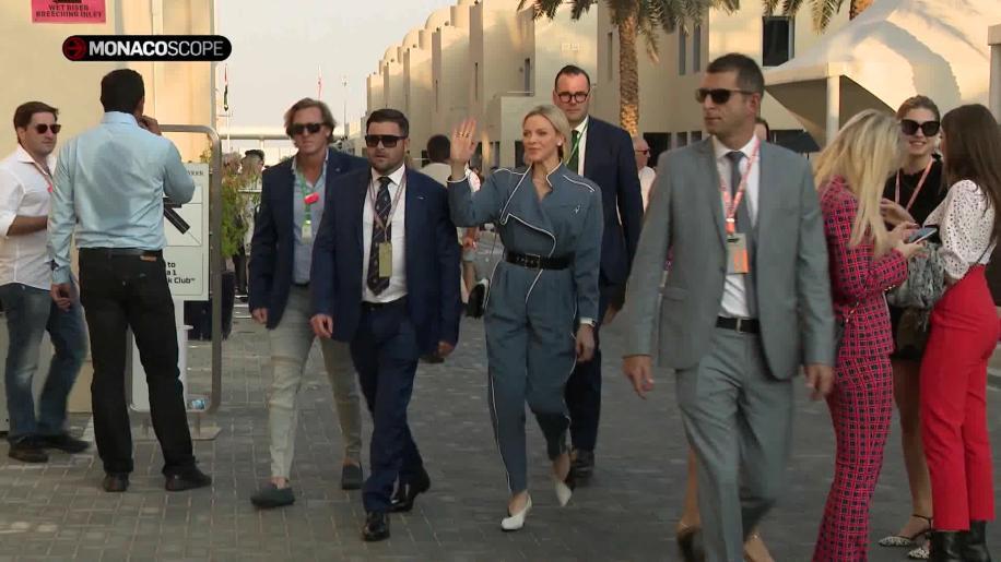 La Principessa Charlene al Gran Premio di Abu Dhabi