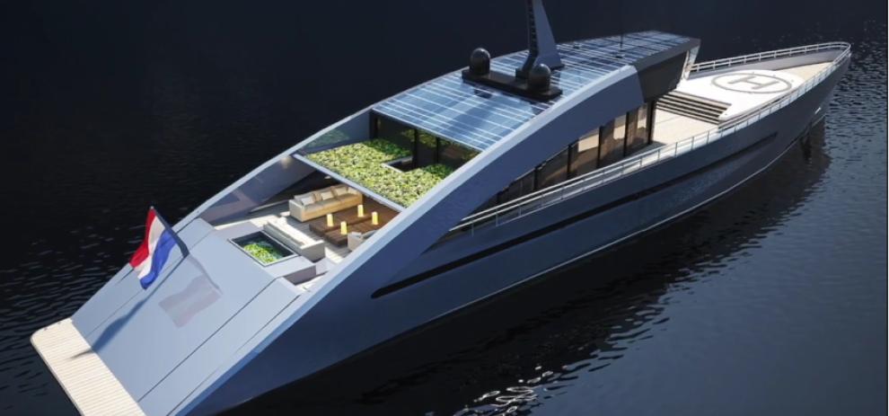 ecco il super yacht con tanto di giardino foto 1 di 6