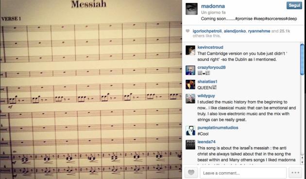 Madonna pubblica l'anticipazione del brano